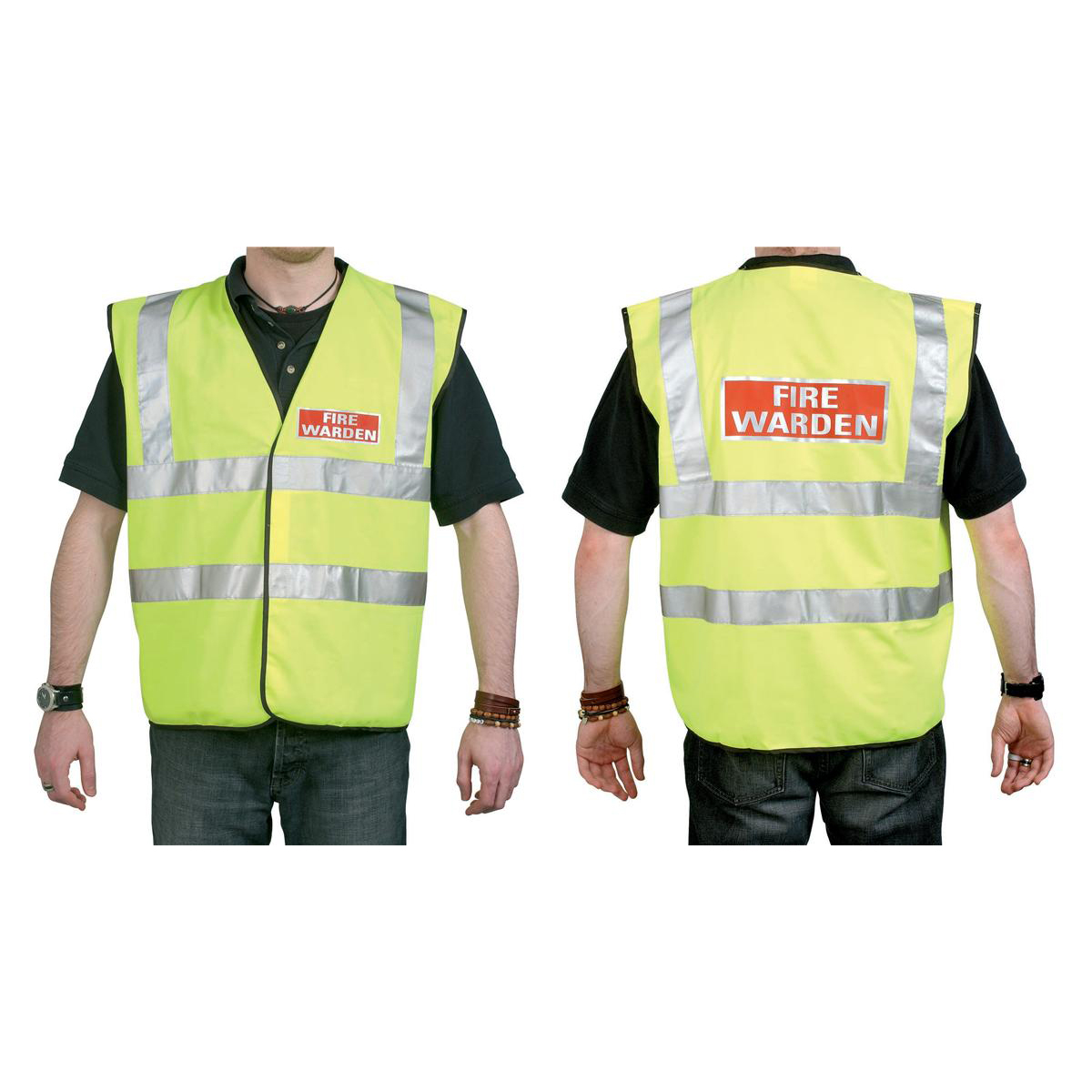 High Visibility Fire Warden Vest High Visibility Yellow Vest Extra Large Ref WG30106