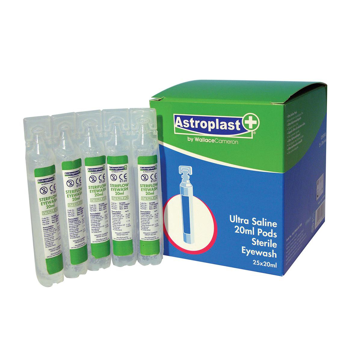 Wallace Cameron Astroplast Saline Eyepods 20ml Ref 2404061 [Pack 25]