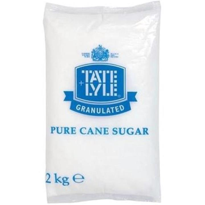 Sugar / Sweetener Tate & Lyle Granulated Pure Cane Sugar Bag 2kg Ref 412079
