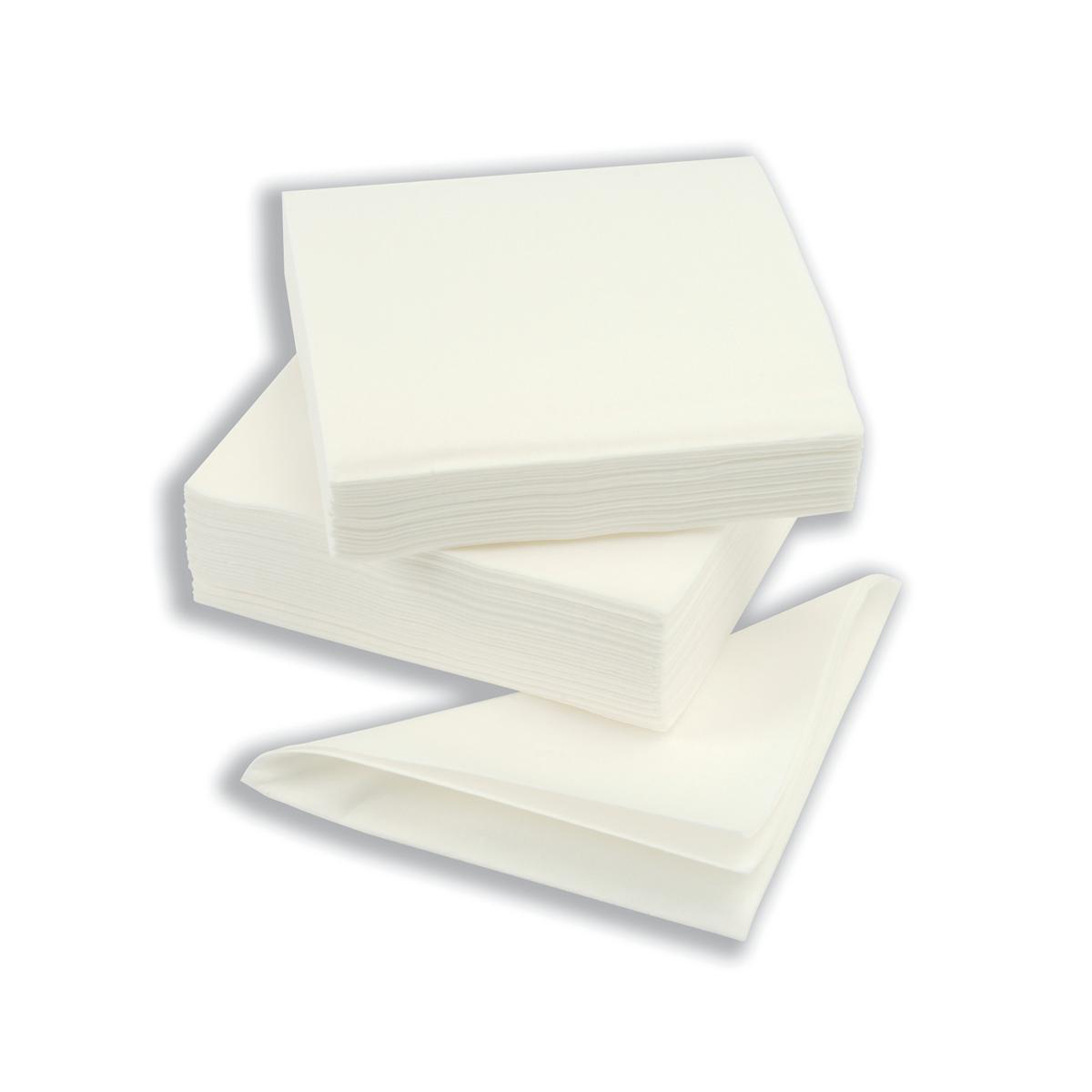 Napkin High Quality Single Ply 390x390mm White Ref D04457 Pack 600