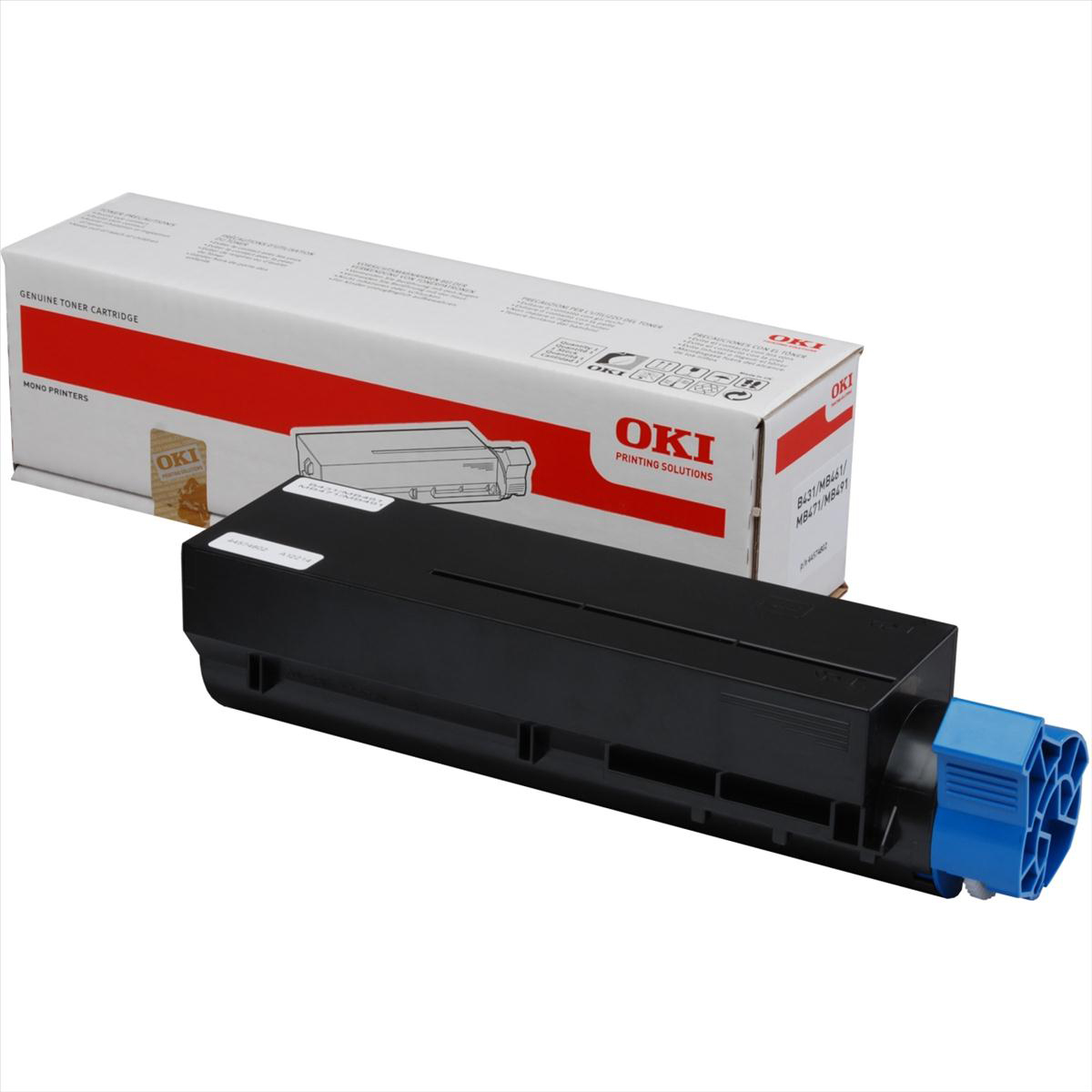 OKI Laser Toner Cartridge Extra High Yield Page Life 12000pp Black Ref 44917602
