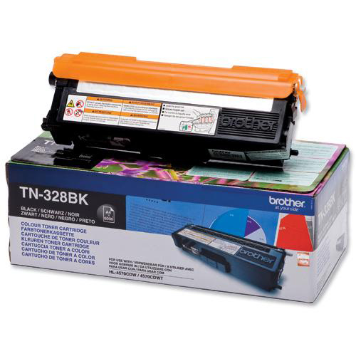 Brother Laser Toner Cartridge Super High Yield Page Life 6000pp Black Ref TN328BK