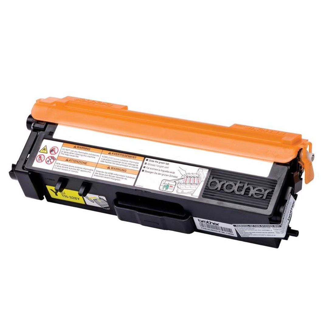 Brother Laser Toner Cartridge Super High Yield Page Life 6000pp Yellow Ref TN328Y