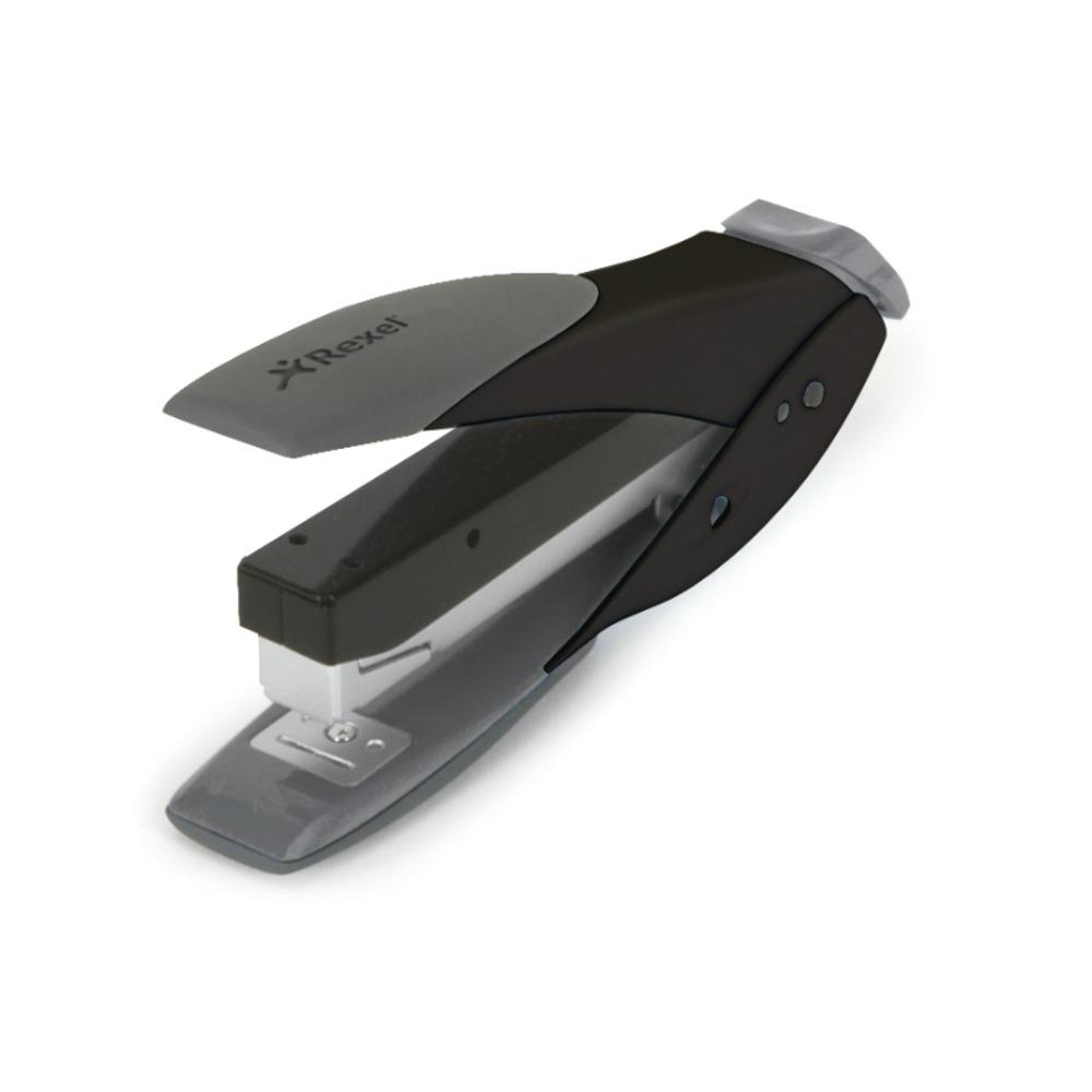 Rexel Easy Touch Stapler Flat Clinch Half Strip Capacity 30 Sheets Black and Grey Ref 2102548