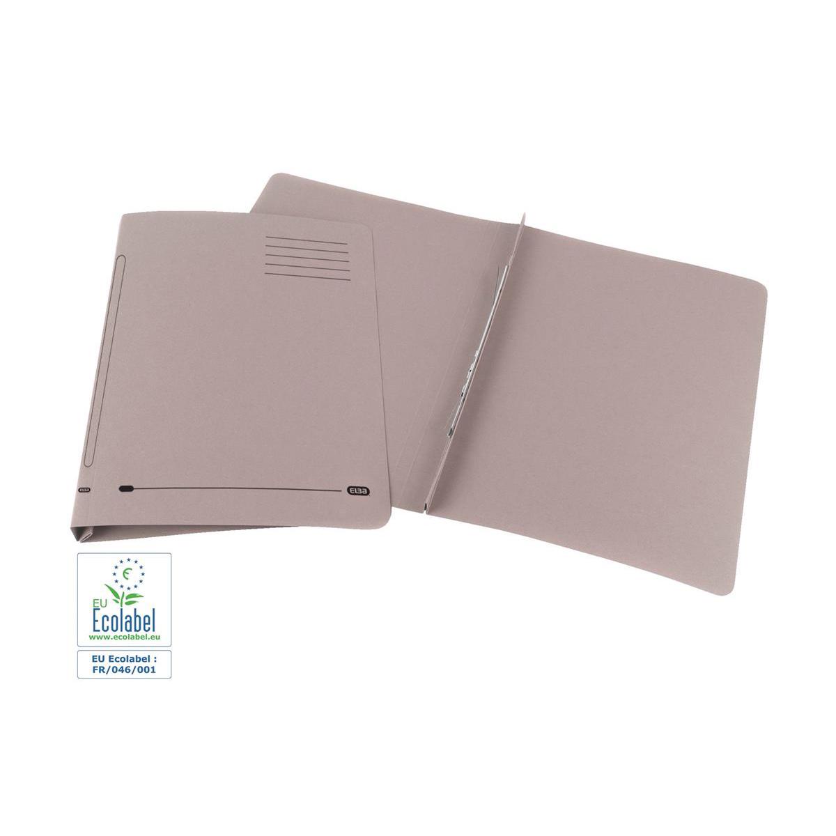 Elba Ashley Flat Bar File (no pocket) 285gsm Capacity 35mm Foolscap Buff Ref 100090153 Pack 25