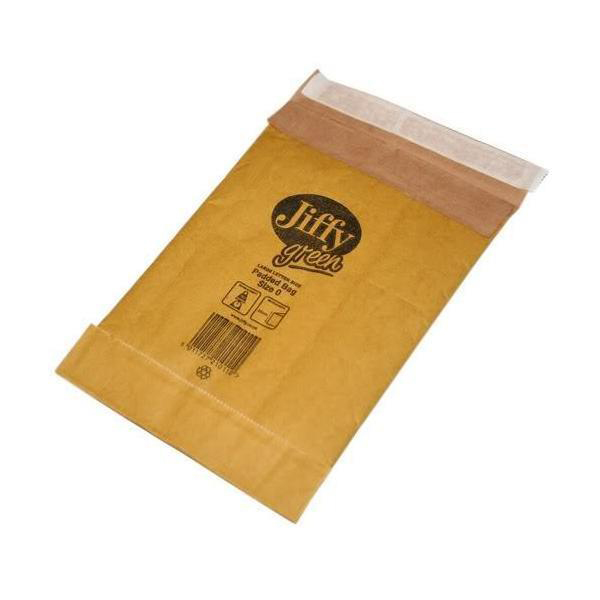 Padded Bags & Envelopes Jiffy Padded Bag Envelopes Size 0 Peel and Seal 135x229mm Brown Ref JPB-0 Pack 200