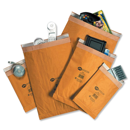 Jiffy Padded Bag Envelopes Size 0 Peel and Seal 140x195mm Brown Ref JPB-0 Pack 200