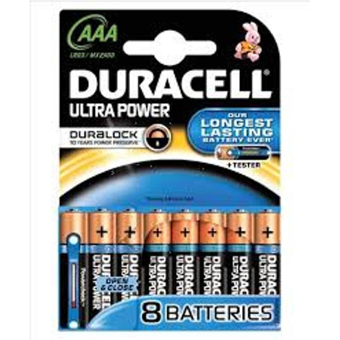 Duracell Ultra Power MX2400 Battery Alkaline 1.5V AAA Ref 81235515 Pack 8