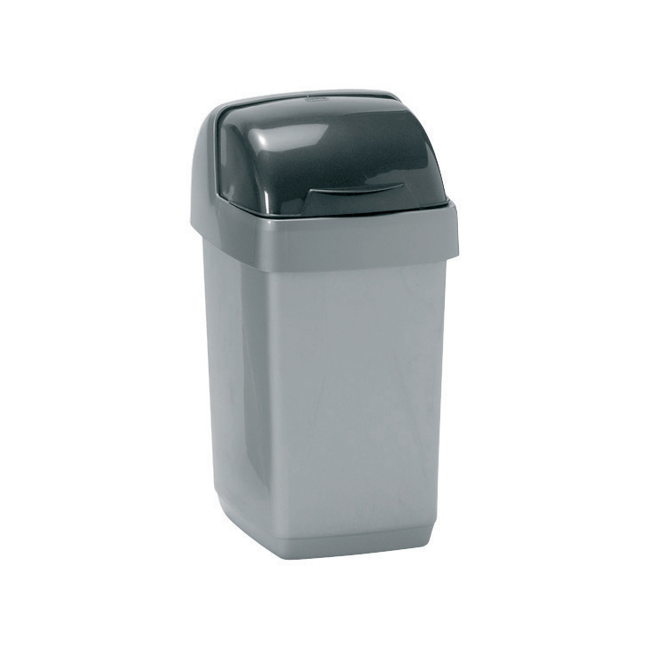 Non metallic bins Addis Roll Top Bin Plastic 10 Litres Grey 510504