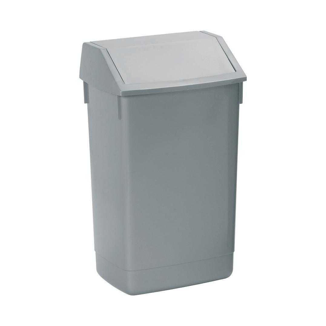 Non metallic bins Flip Top Bin Composite Plastic 60 Litres Metallic