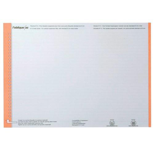 Elba AZO Ultimate Card Inserts for Suspension File Tabs White Ref 100330197 Labels 270