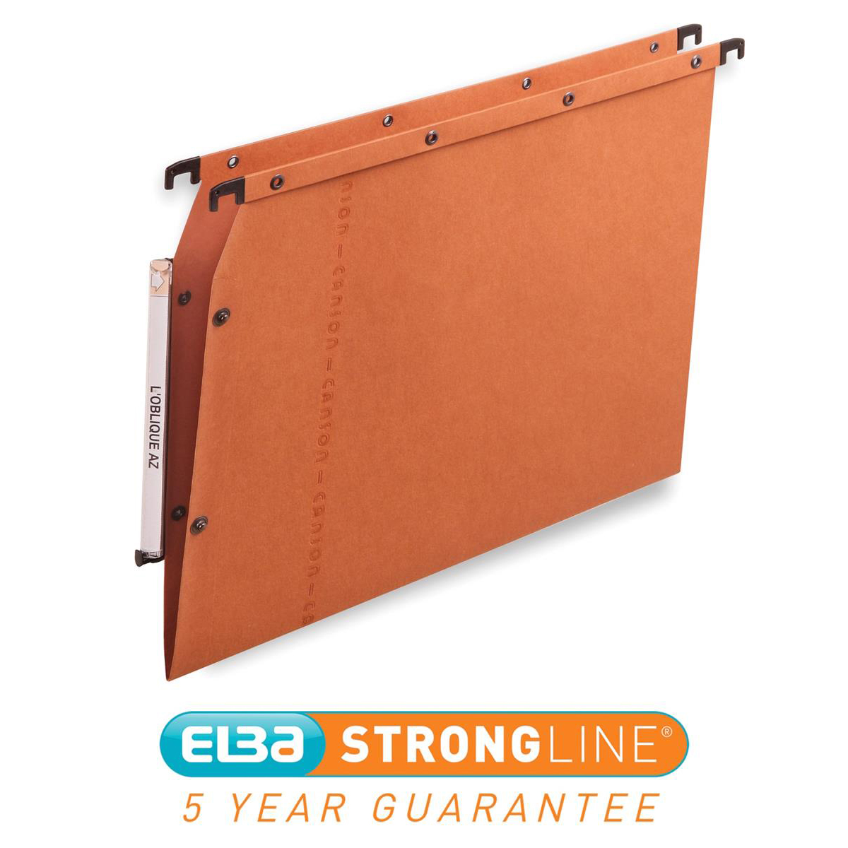 Elba Ultimate AZV Linking Lateral File Manilla 15mm V-base 240gsm A4 Orange Ref 100330473 Pack 25