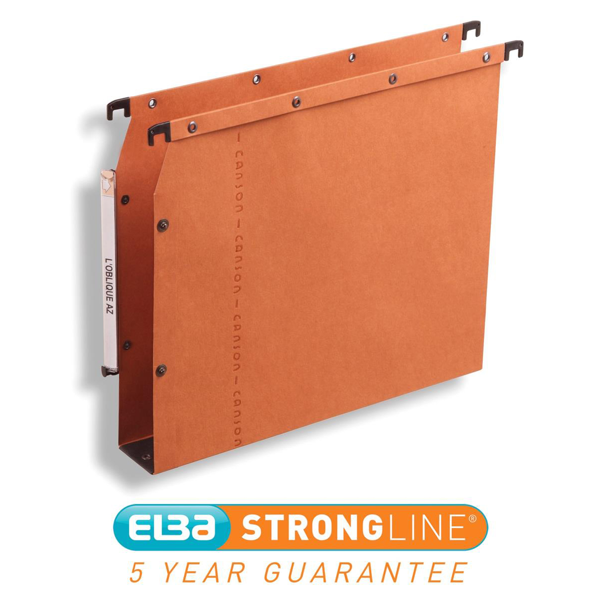 Elba Ultimate AZV Linking Lateral File Manilla 30mm Wide-base 240gsm A4 Orange Ref 100330475 Pack 25