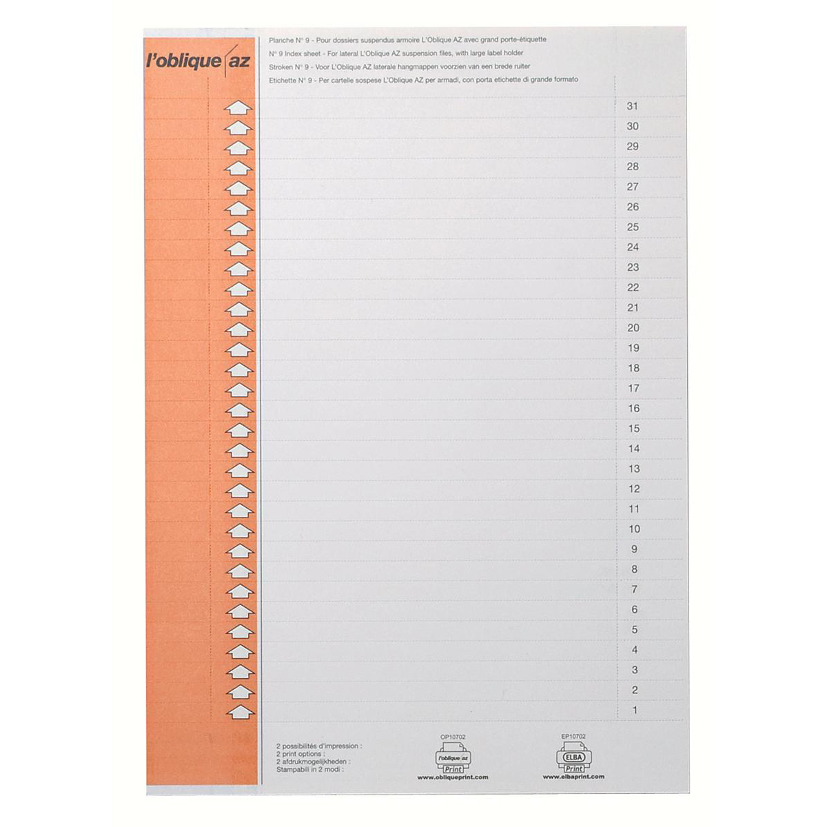Elba Ultimate Polypro Card Inserts for Lateral Suspension File Tabs White Ref 100330212 [Labels 310]