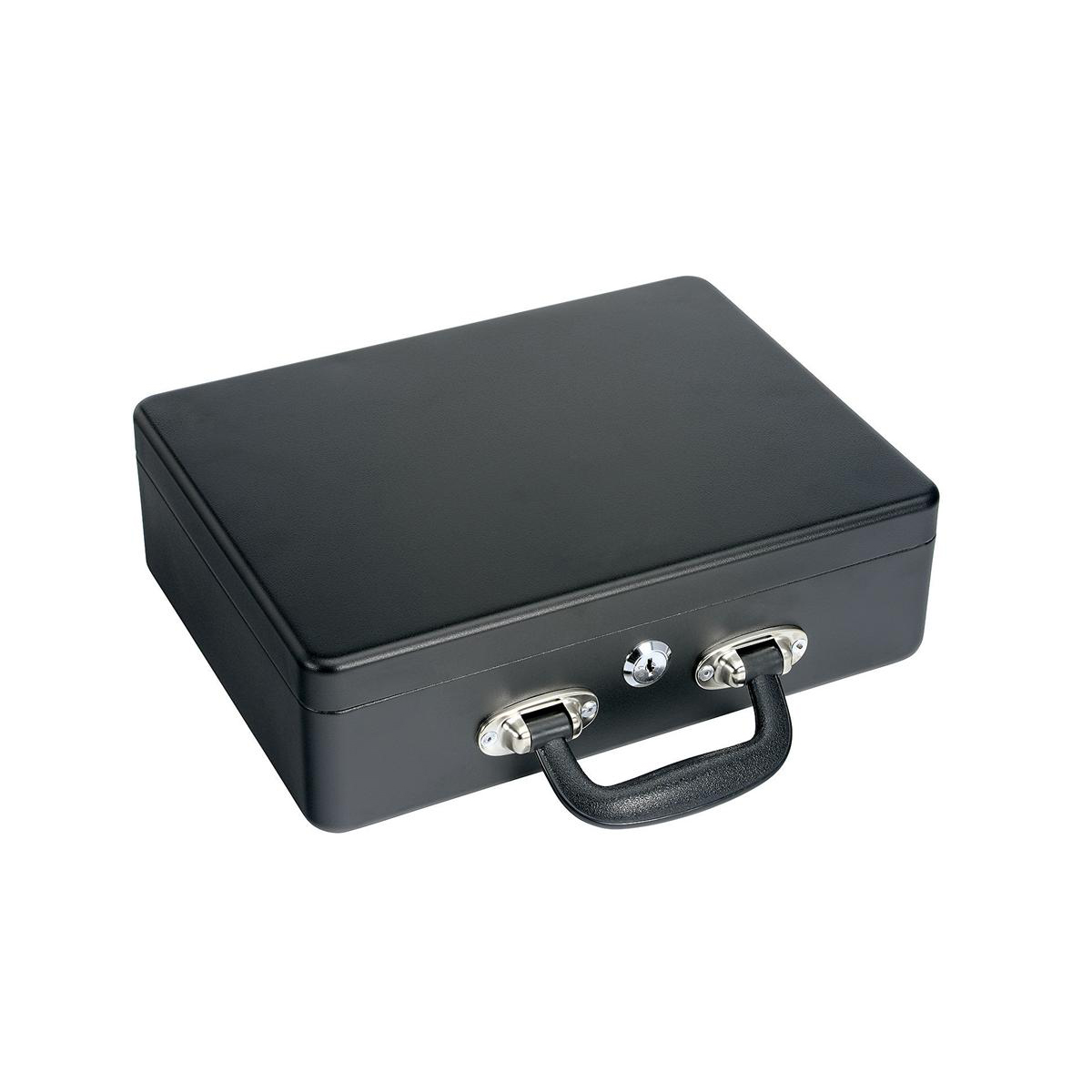 Petty Cash Box With Lock With Organiser Coin Tray 8 Part and Note Section 3 Part W305xD250xH90mm