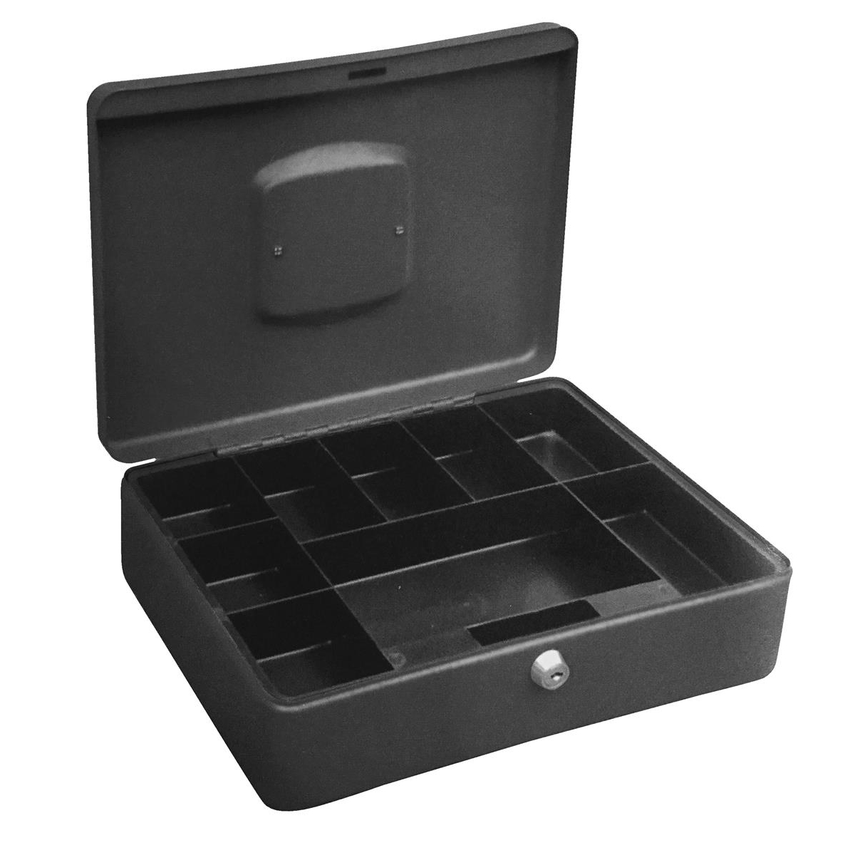 Cash or ticket boxes 5 Star Facilities High Capacity Cash Box 8 Part Coin Tray 1 Part Note Section W300xD230xH90mm Titanium