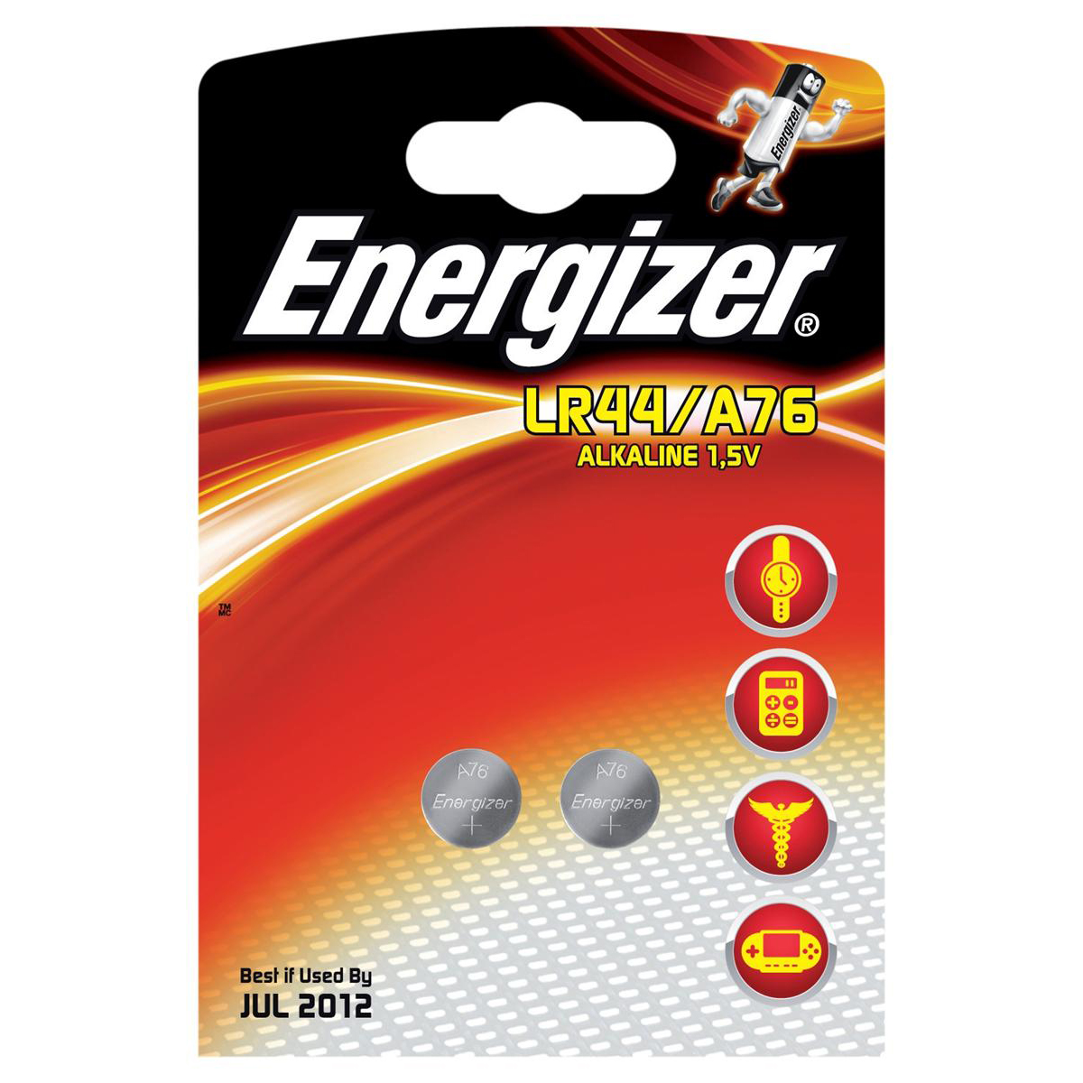 Button Cell Energizer FSB-2 Battery Alkaline LR44 1.5V Ref 623055 [Pack 2]