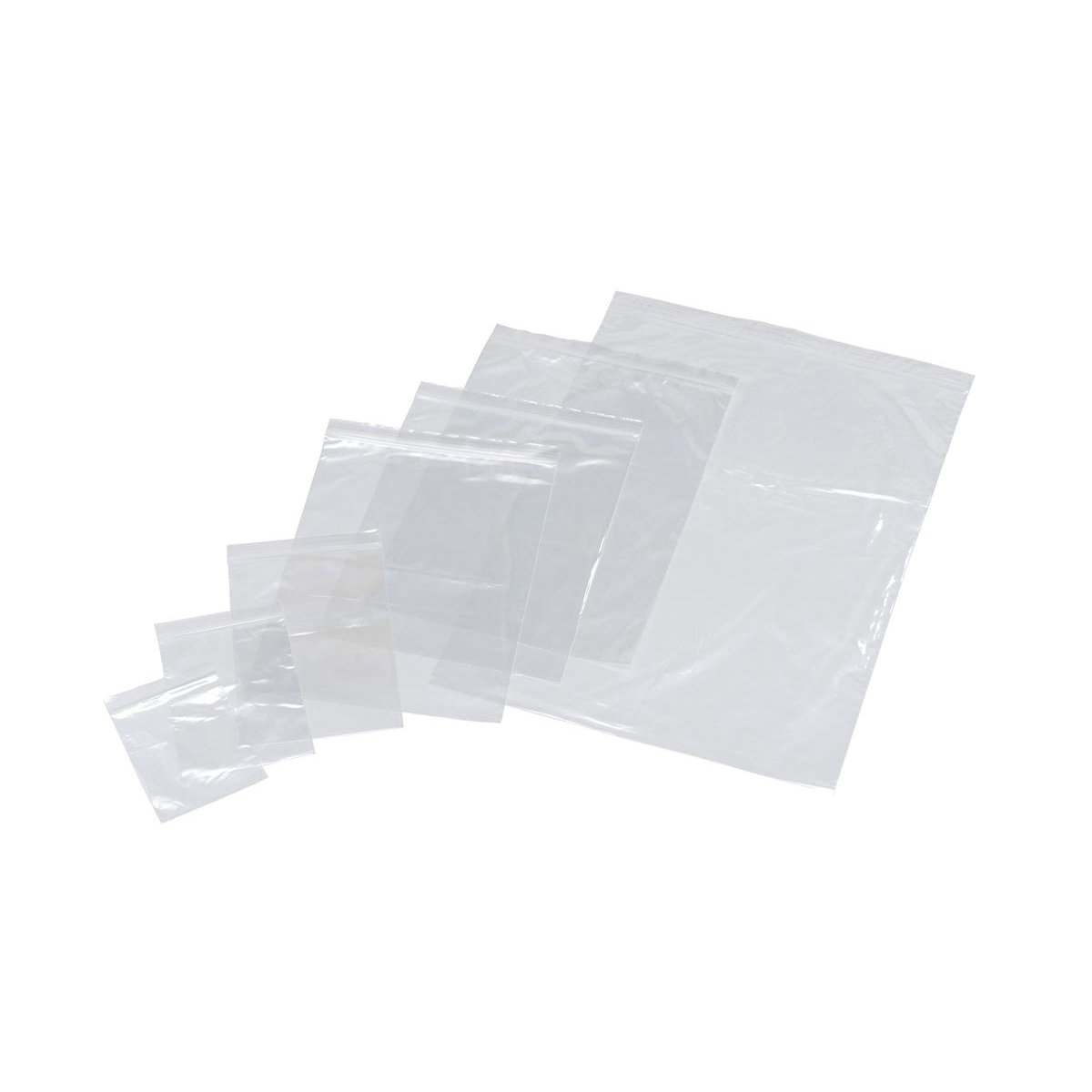 Grip Seal Polythene Bags Resealable Plain 40 Micron 75x82mm Pack 1000