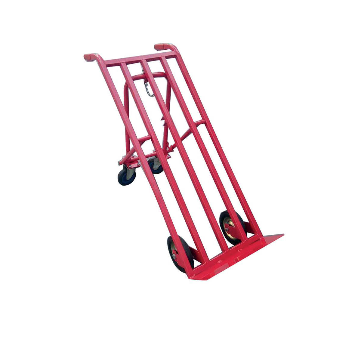 Platform Trucks 5 Star Facilities Sack Truck Heavy Duty 3 Position Steel Frame Double Rear Castors Capacity 300kg Red