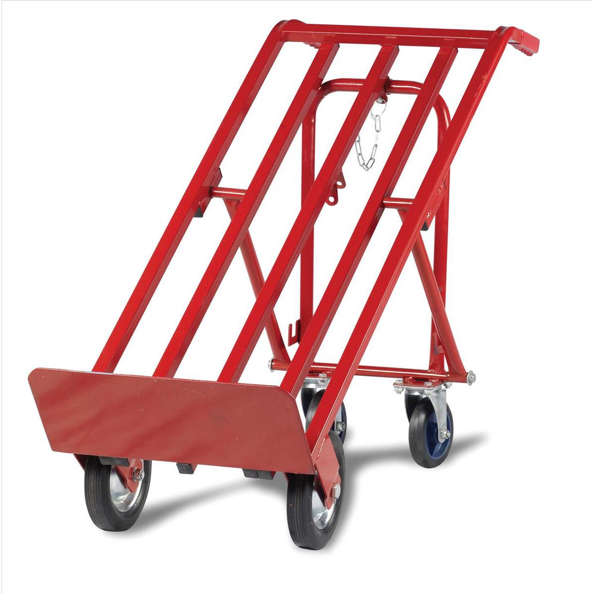 5 Star Facilities Sack Truck Heavy Duty 3 Position Steel Frame Double Rear Castors Capacity 300kg Red