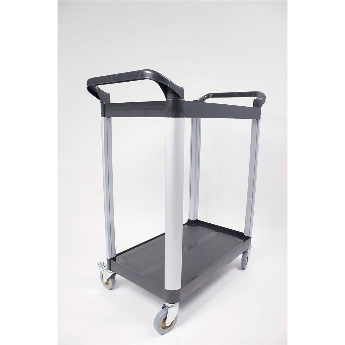 Trolleys or accessories 5 Star Facilities Utility Tray Trolley Standard 2 Shelf Capacity 100kg W460xD750xH940mm