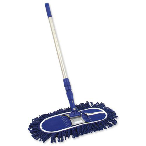 Bentley Dustbeater Sweeper with Telescopic Handle (60cm Blue head) Ref SPC/DB60