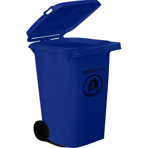 Wheelie Bin High Density Polyethylene with Rear Wheels 240 Litre Capacity 580x740x1070mm Blue