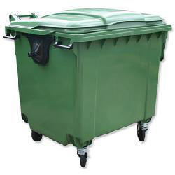 Four Wheeled Bin UV Stabilised Polyethylene 660 Litres 45kg 1350x770x1200mm Green