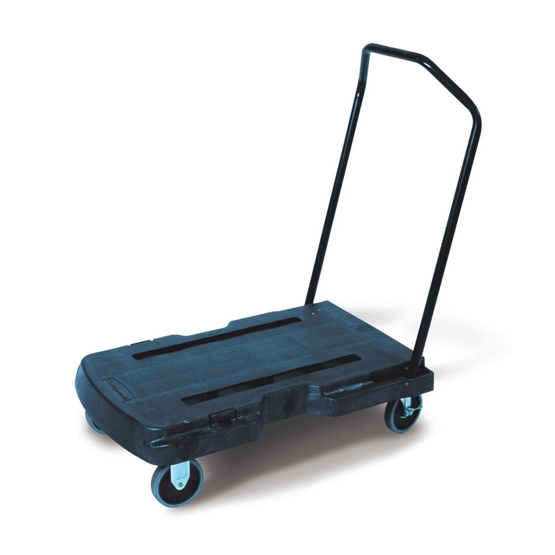 Carts Rubbermaid Triple Platform Truck with Castors 2 Fixed 2 Swivel Capacity 180kg L826xW521mm Ref 4401