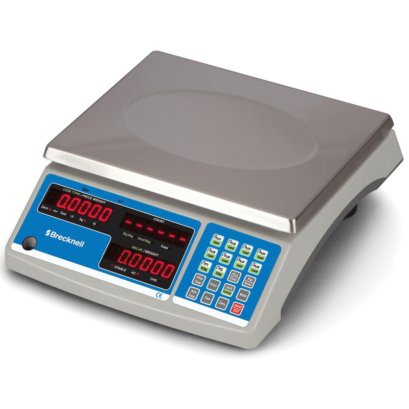 Postal scales Brecknell Count and Weigh Scale Accumulate and Count Red LED W292xD222xH13mm Ref B140