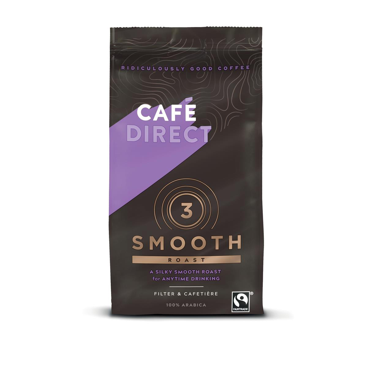 Coffee Cafe Direct Smooth Roast Fairtrade Roast and Ground Coffee 227g Ref FCR0002