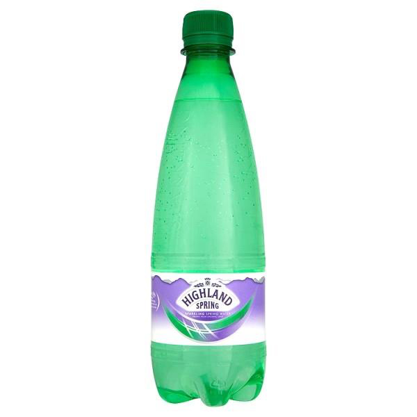 Highland Spring Water Sparkling Bottle Plastic 500ml Ref 21057B Pack 24