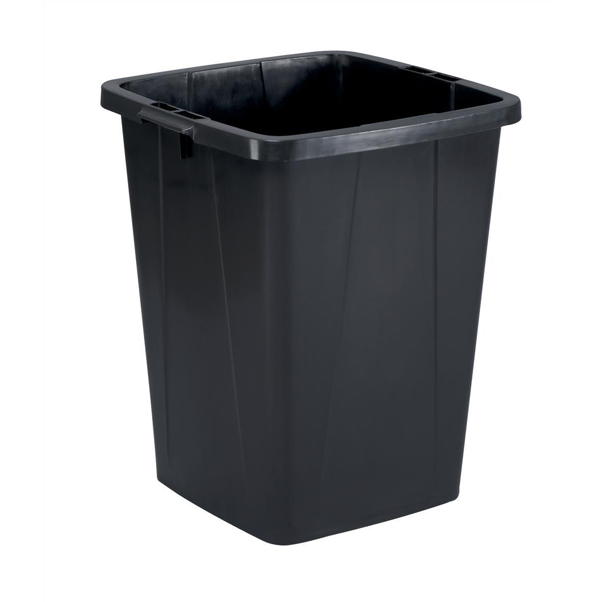 Rubbish Bins Durable Durabin Slim Bin for Recycling Waste 90 Litre Capacity 515x485x605mm Black Ref 1800474221