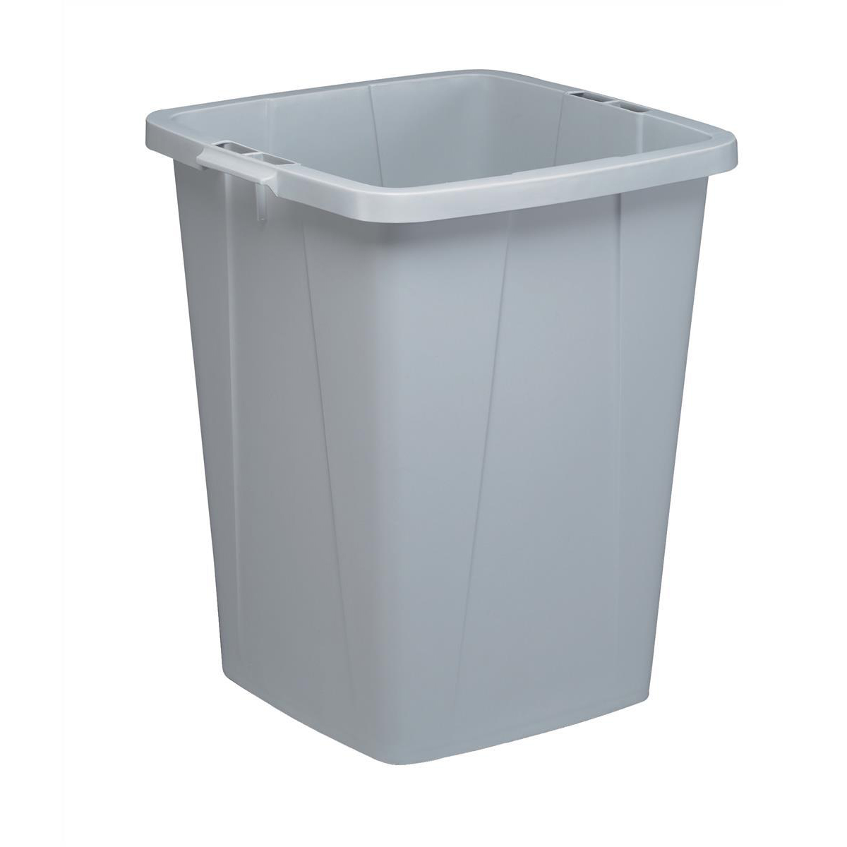 Rubbish Bins Durable Durabin Slim Bin for Recycling Waste 90 Litre Capacity 515x485x605mm Grey Ref 1800474050