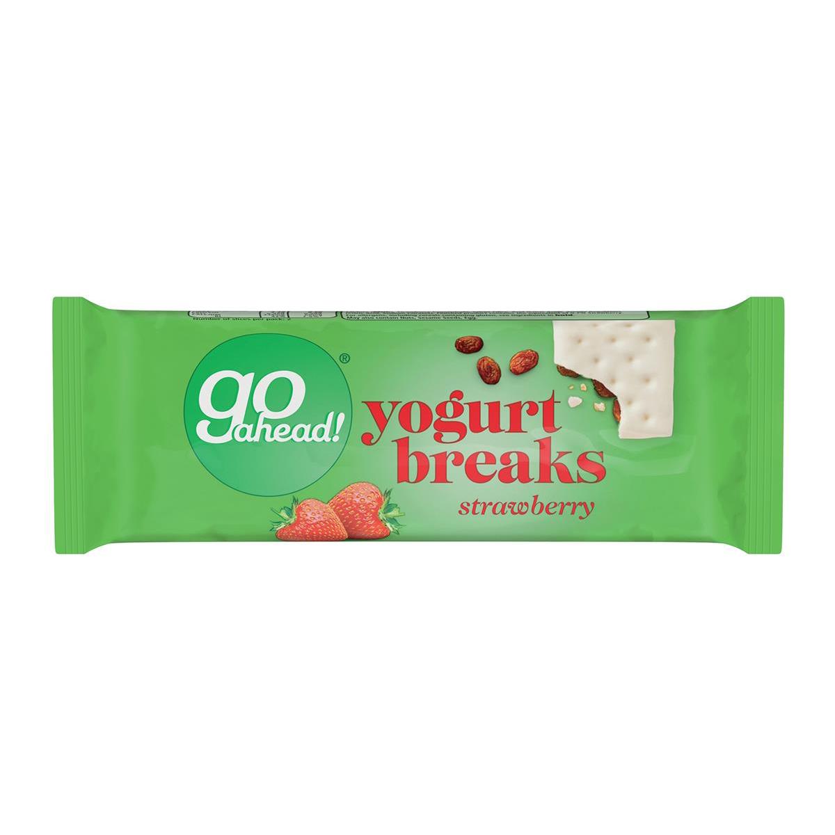 GoAhead Yogurt Biscuit Bar Slices Strawberry Ref 0401056 [Pack 24]