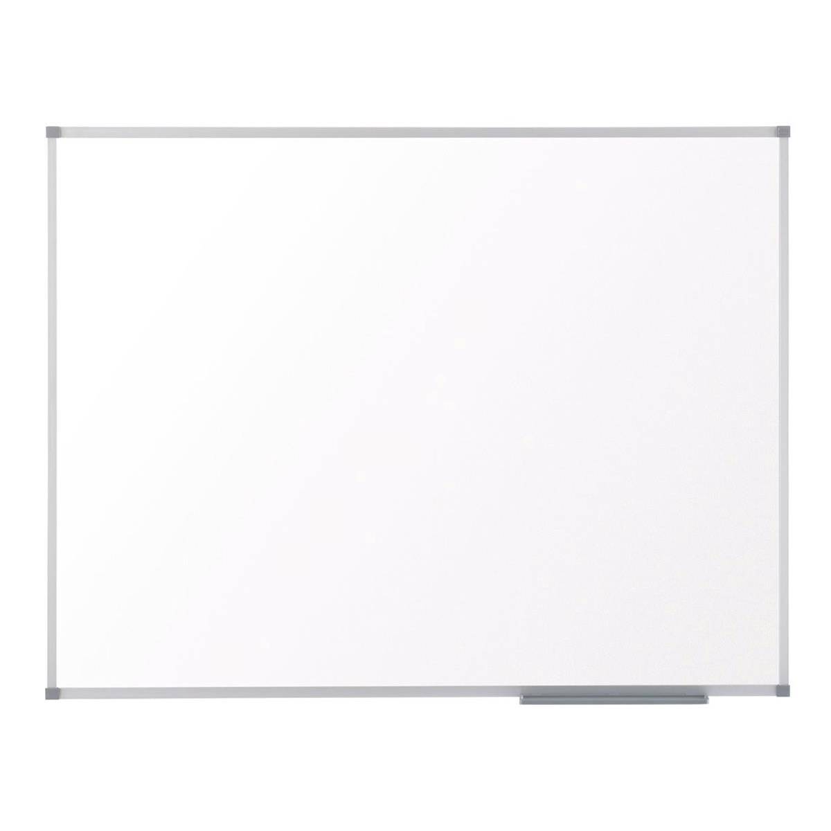 Magnetic Nobo Classic Nano Drywipe Board Magnetic Steel with Fixings Slim Frame W2100xH1200mm White Ref 1902649