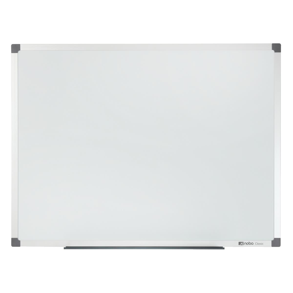 Magnetic Nobo Classic Nano Drywipe Board Magnetic Steel with Fixings Slim Frame W1800xH900mm White Ref 1902645