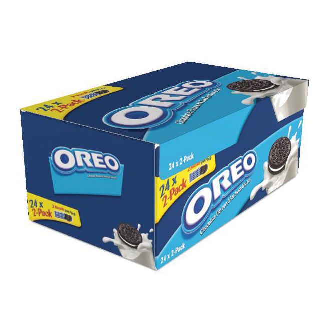 Oreo Mini Biscuits Chocolate-flavoured Sandwich with White Filling Twin Pack Ref A03275 Pack 48