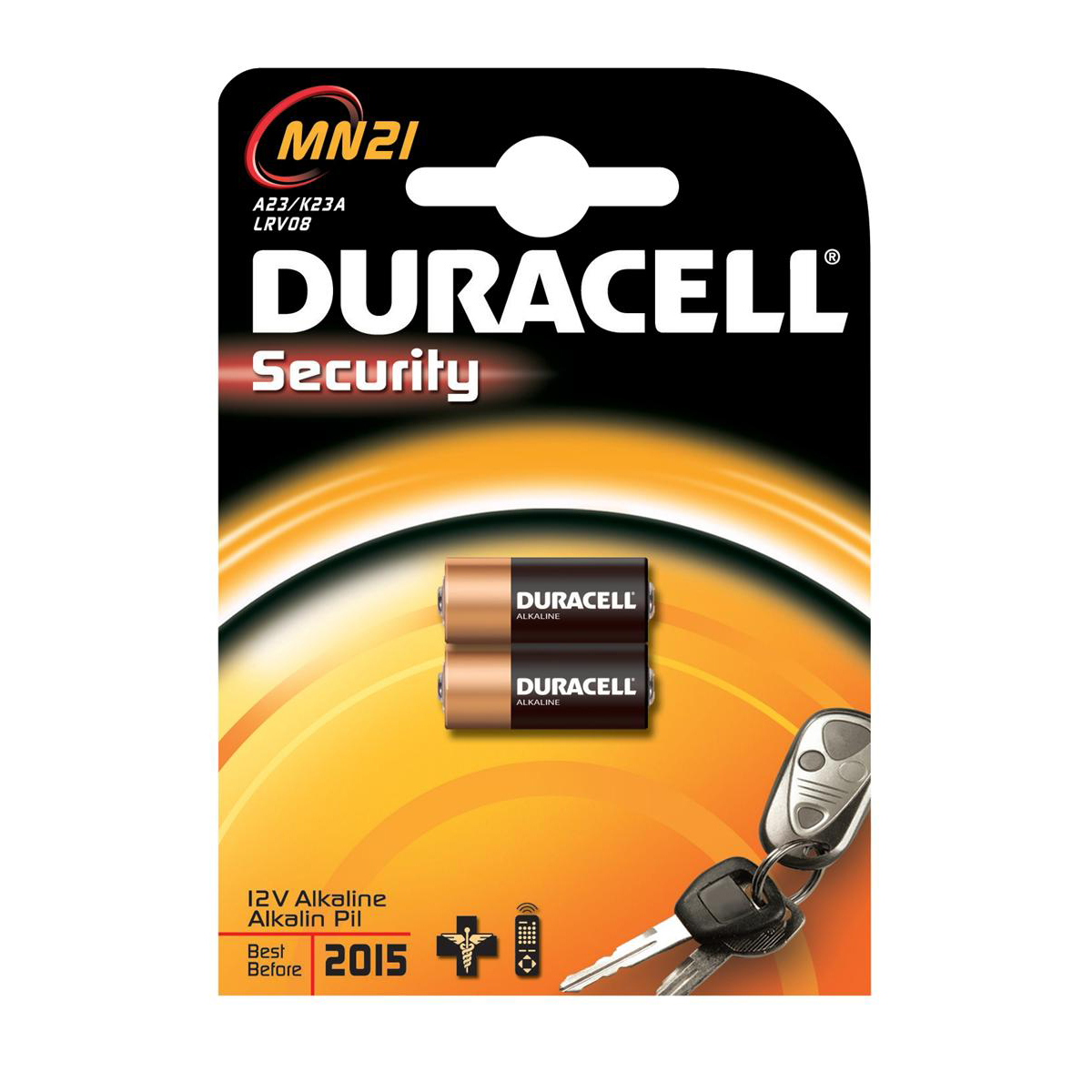 Duracell MN21 Battery Alkaline for Camera Calculator or Pager 1.2V Ref 75072670 Pack 2