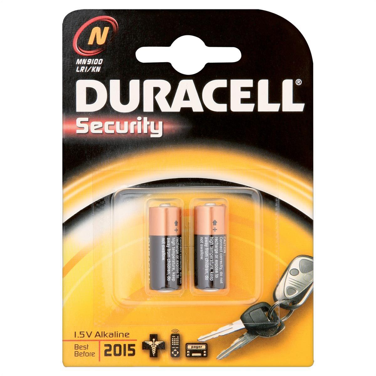 Duracell MN9100N Battery Alkaline for Camera Calculator or Pager 1.5V Ref 81223600 Pack 2
