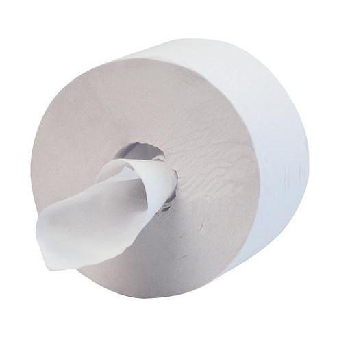Hostess Midi Jumbo 400 Toilet Tissue Roll 1000 Sheets 1-ply 400x90mm White Ref 8613 Pack 12