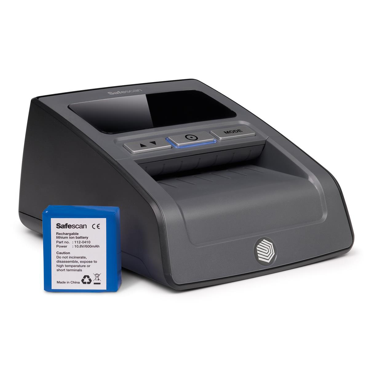 Safescan 155-S Counterfeit Detector 0.62kg L159xW128xH83mm Black Ref 112-0529