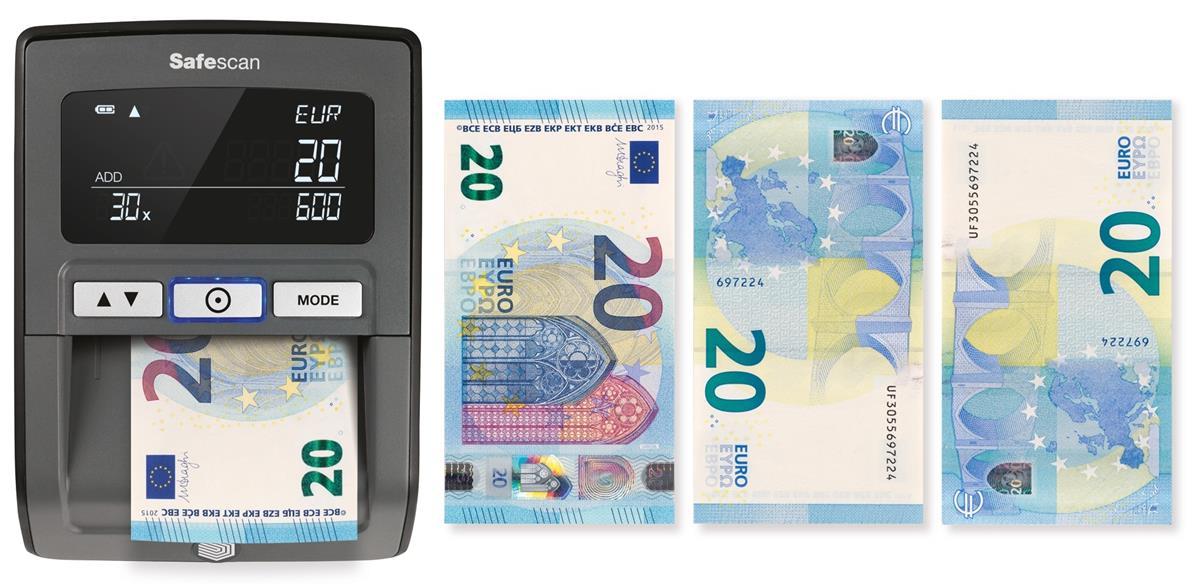 Safescan 155-S Counterfeit Detector 0.62kg L159xW128xH83mm Black Ref 112-0529
