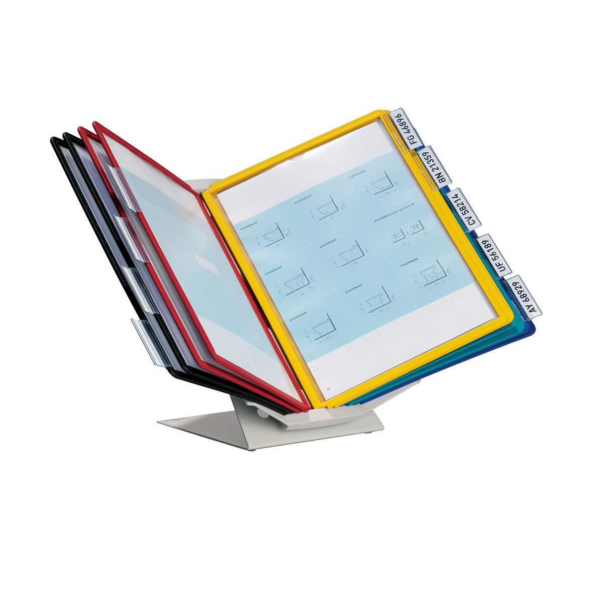 Durable Display System Desktop or Wall Mounting 10 Panels A4 Assorted Ref 5579/00