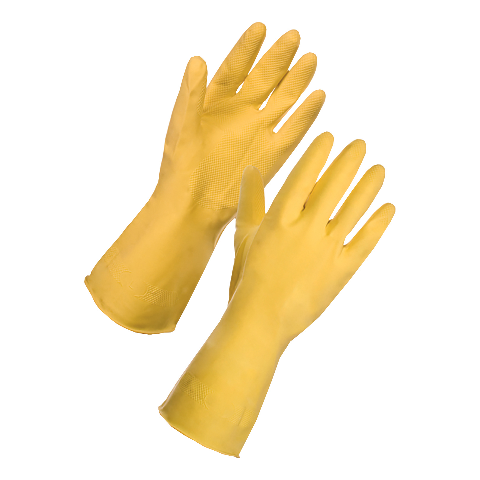 Yellow Rubber Gloves Medium Pair 13342