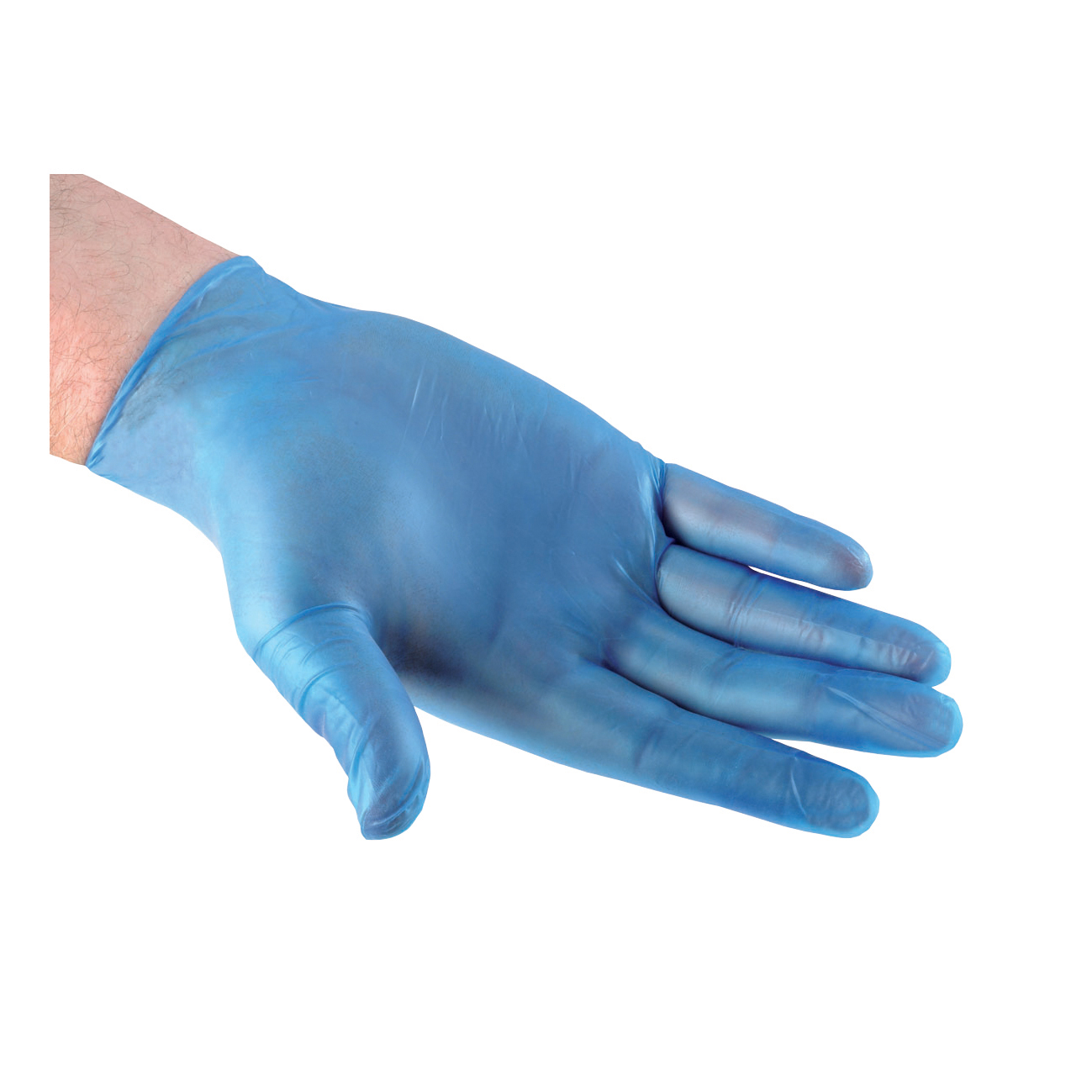 Disposable Gloves Vinyl Powder Free Medium Blue Pack 100