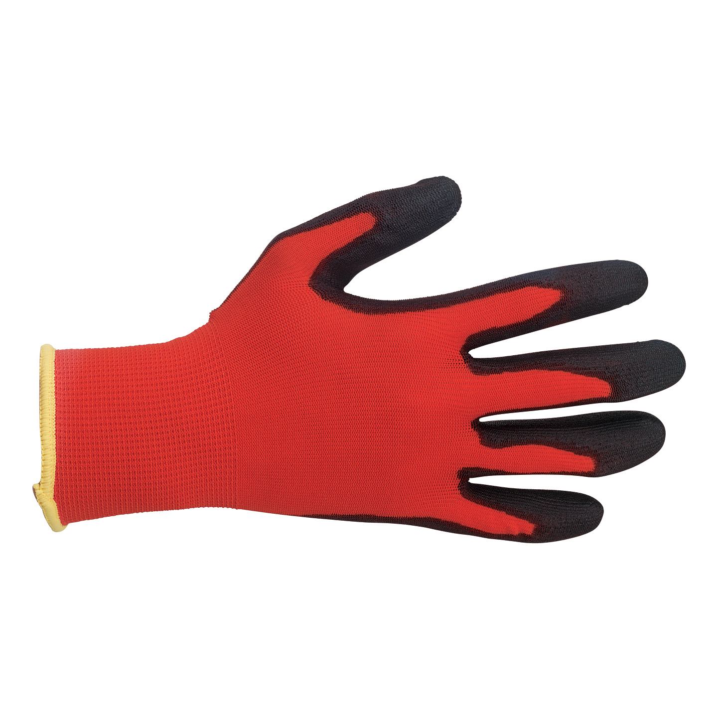 Protective gloves Polyco Safety Gloves Light-duty Level 1 PU Coated Size 9 Red/Black Pair Ref MRP/09
