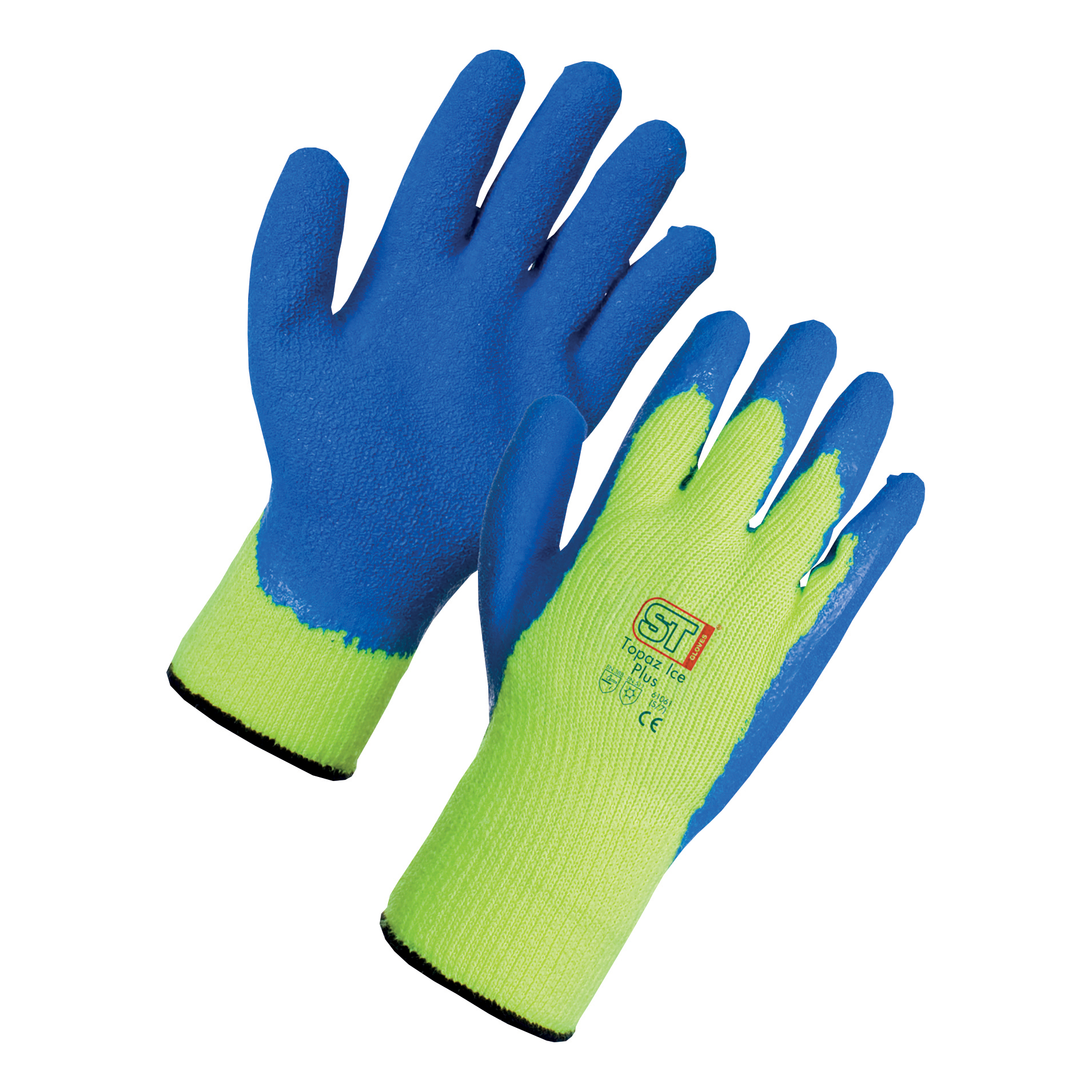 Supertouch Topaz Ice Plus Gloves Acrylic Textured Latex Palm Large Ref 61063 [Pair]
