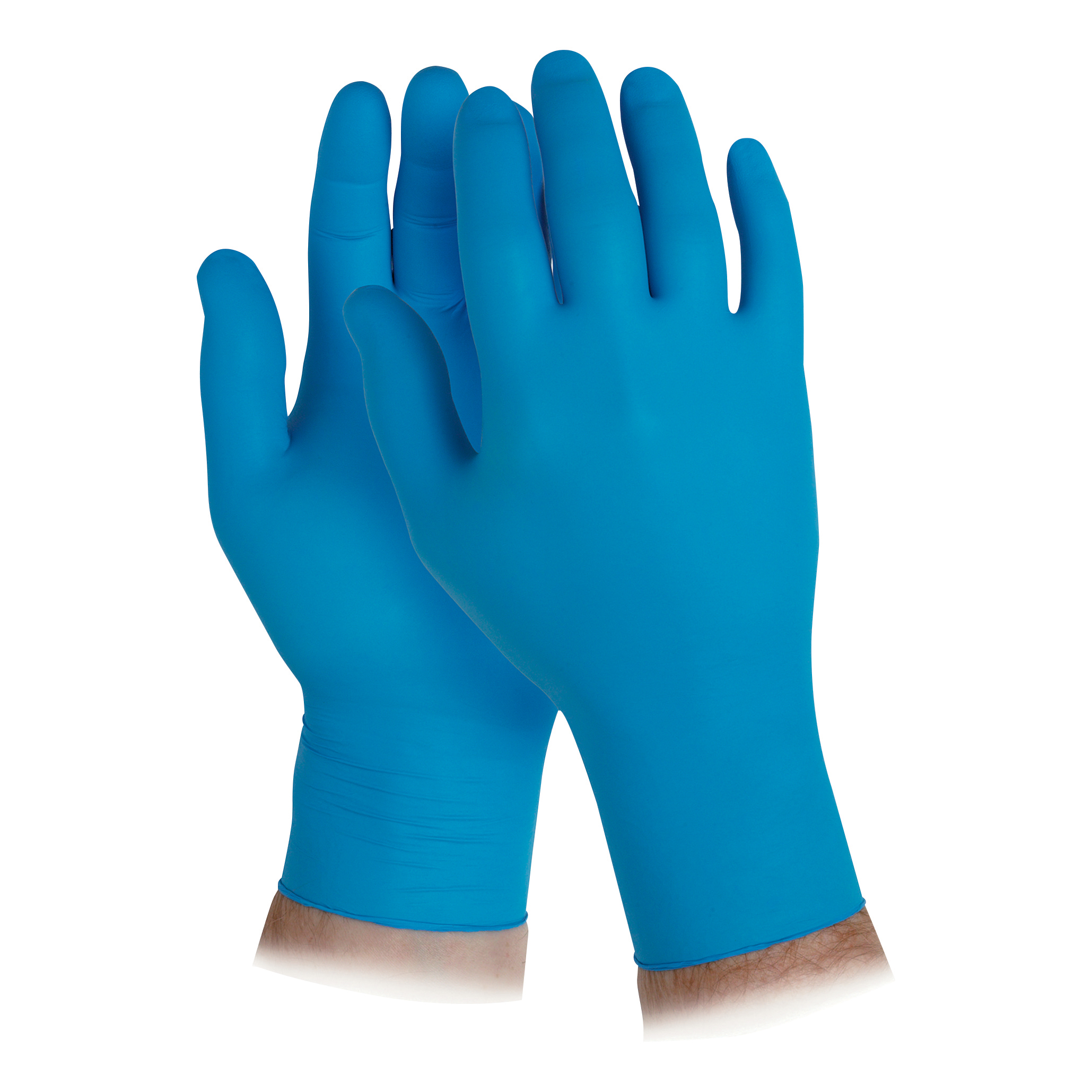 KleenGuard G10 Nitrile Gloves Powder Free Natural Rubber Large Arctic Blue Ref 90098 Box 200