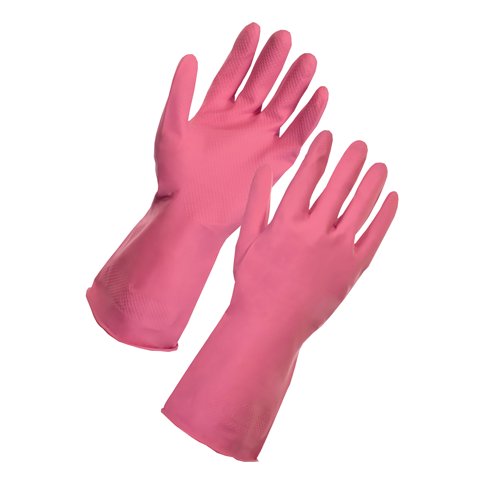Supertouch Household Latex Gloves Medium Pink Ref 13352 [Pair]